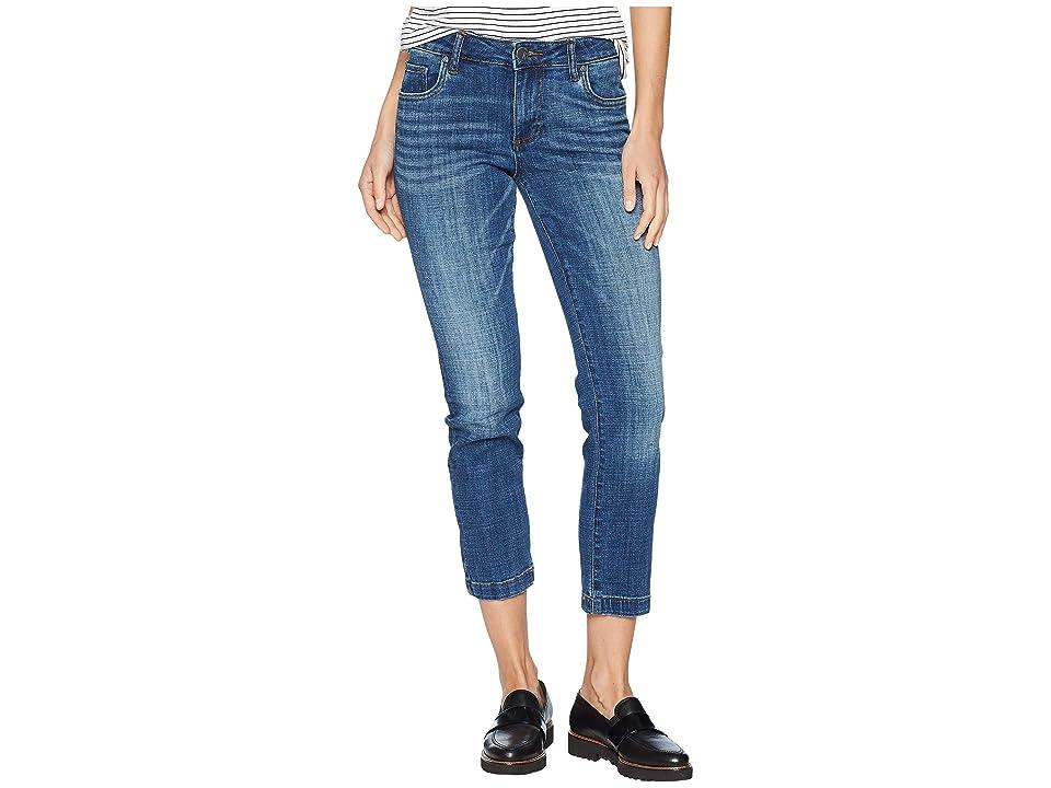 KUT from the Kloth Lauren Ankle Straight Leg Wide Hem Jeans in Please (Please/Medium Base Wash) Women
