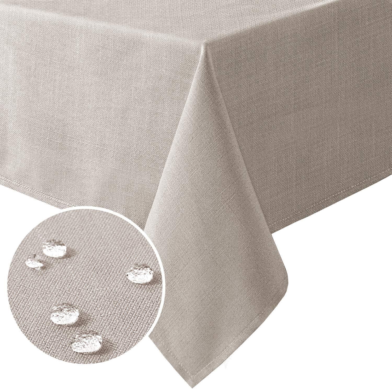 H.VERSAILTEX Linen Textured Table Cloths Rectangle 54 Manufacturer Under blast sales OFFicial shop Inch 80 x