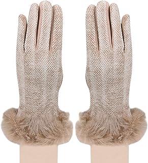 Bongio Women's Leather Gloves (Coffee Colour, Free Size)