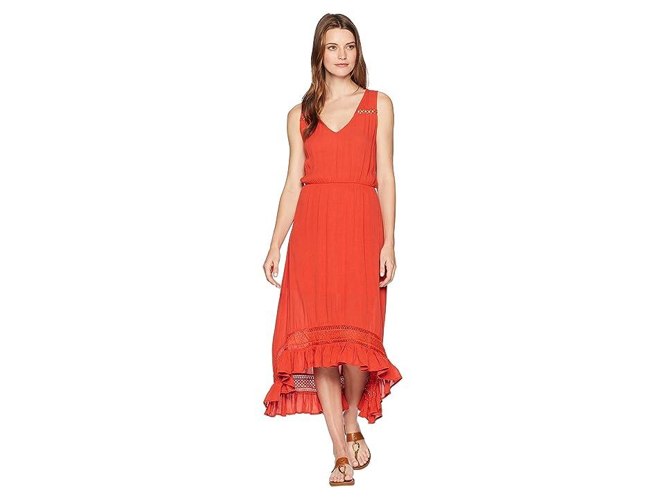 Rock and Roll Cowgirl Sleeveless Dress D5-6780 (Orange) Women