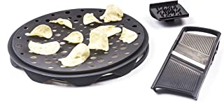 Innovia Imports 4897056740167 Healthy Microwaveable Food Maker, Charcoal Grey
