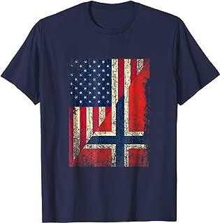 Norwegian American Flag Shirt Norway