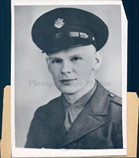 Vintage Photos 1944 Photo WW2 Private Ben Violett South Bend in Military Policeman Money Rare