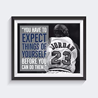 60929f71a322 Michael Jordan Quote Poster – 16 x 20 – Expect Things – NBA – Motivational  – Inspirational – Growth Mindset – Dorm Room Decor – School Poster –  Classroom ...