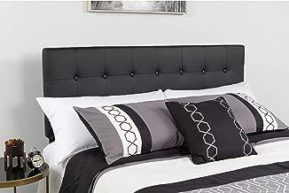 Flash Furniture Lennox Tufted Upholstered Full Size Headboard in Black Vinyl