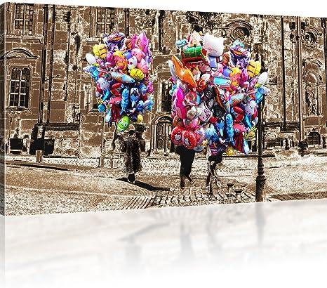 Luftballons in Dresden Bilder auf Leinwand Stadt Kunstdruck Wandbilder