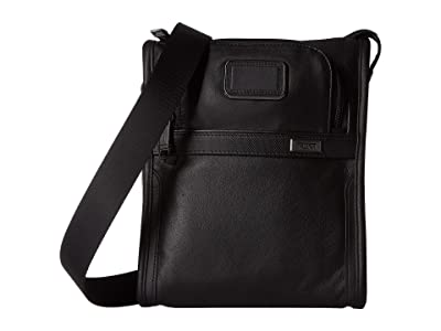 Tumi Alpha 3 Pocket Bag Small (Black) Handbags