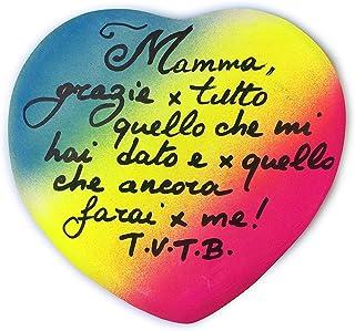 Idea Regalo per La Festa della Mamma 10/5/20 - Mamma grazie x tutto. - Regala il tuo cuore alla tua Mamma, Personalizzabile