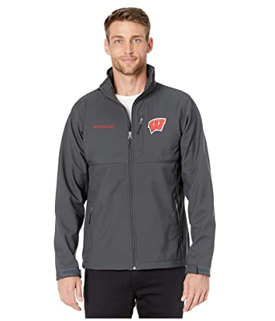 Columbia College Wisconsin Badgers Collegiate Ascendertm Softshell Jacket (Shark) Men