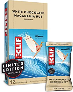 CLIF BAR - Energy Bars - White Chocolate Macadamia Nut Flavor - (2.4 Ounce Protein Bars, 12 Count) Packaging May Vary