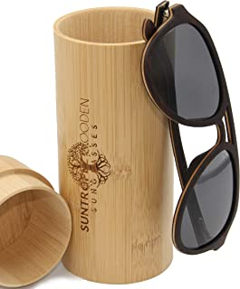 SUNTROPEZ - Gafas de sol polarizadas de madera para hombre con monturas de madera ecológicas hechas a mano, gafas solares protección UV400