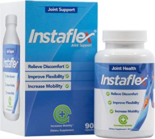 Instaflex Joint Health - Clinically Studied Joint Relief Blend of Glucosamine, MSM, White Willow, Turmeric, Ginger, Cayenne, Hyaluronic Acid - 90 Capsules