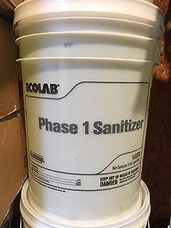 Ecolab Ecotemp Phase 1 Dishmachine Liquid Sanitizer - 5 Gallon