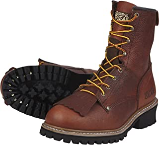 Gravel Gear Men's 8in. Logger Work Boots - Brown, Size
