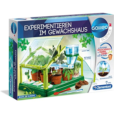 Clementoni 69487 Galileo Science Phosphorescent Crystals Experiment Box for Little Scientists Toy for Children Aged 8 Years and Above Colourful Experiments for Nursery