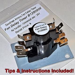 NEW Fan Blower Time Delay B1290906 24V Goodman Air Handler Relay + Instructions