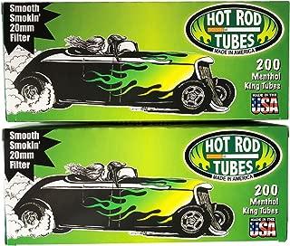 Hot Rod Cigarette Tubes King Menthol. 2-Pack- 400 tubes total