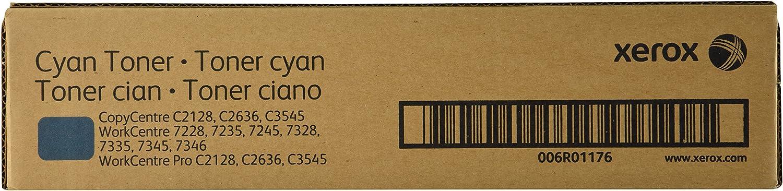 Xerox 006R01176 CopyCentre C2128 C2636 C3545 WorkCentre 7228 7235 7245 7328 7335 7345 7346 Toner-Cartridge (Cyan) in Retail Packaging