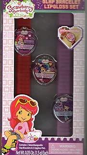 Strawberry Shortcake 5 Piece Set Slap Bracelets Lip Glosses Berry Cherry Strawberry Flavored