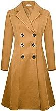 APTRO Women's Winter Dress Coats Wool Blend Double Breasted Long Peacoat