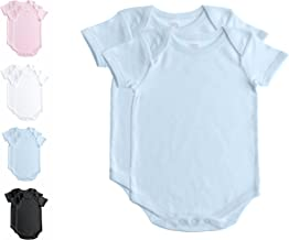 Baby Jay 2 PK Short Sleeve Onesies for Babies and Toddlers -Premium Soft Cotton Bodysuit -Boys and Girls