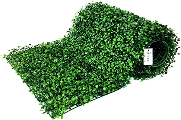BESAMENATURE 12 Piece Artificial Boxwood Hedge Panels UV Protected Faux Greenery Mats For Both Outdoor Or Indoor Decoration 20 L X 20 W