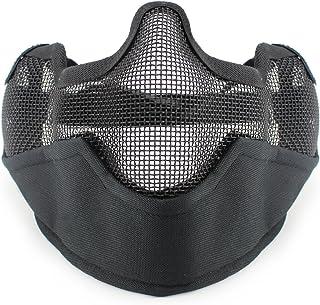 PHOENIX IKKI 耳保護付き 2バンド式 曇り防止 通気性良好 スチール製 戦術 メッシュ タクティカルギア フェイスガード サバゲー装備 15色対応
