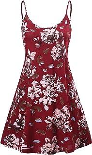 a70083bce59a MSBASIC Women s Sleeveless Adjustable Strappy Summer Beach Swing Dress