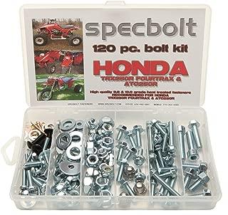 120pc Specbolt Fasteners Brand Bolt Kit for Maintenance & Restoration fits Quad and Three Wheelers TRX ATC 250R