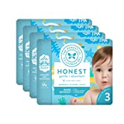 The Honest Company Baby Diapers with Trueabsorb Technology, Yellow Submarines, Size 3, 108 Count