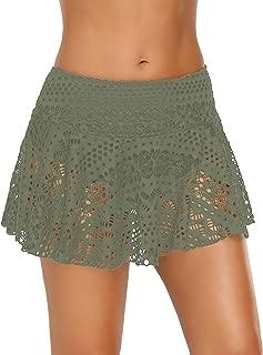 Women's Lace Crochet Skirted Bikini Bottom Swimsuit Short Skort Swimdress