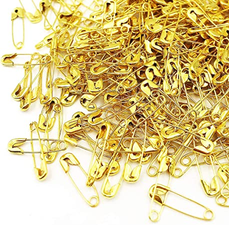 Pack of 100,Gold KINTRADE Safety Pins Exquisite Small Metal Clothing Trimming Fastening Tool Findings Metallic Clip Buttons Fastener Tool Accessories