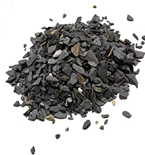 Natural Slate Stone - 1/8 to 1/4 inch Slate Gravel for Miniature or Fairy Garden, Aquarium, Model Railroad & Wargaming 1lb