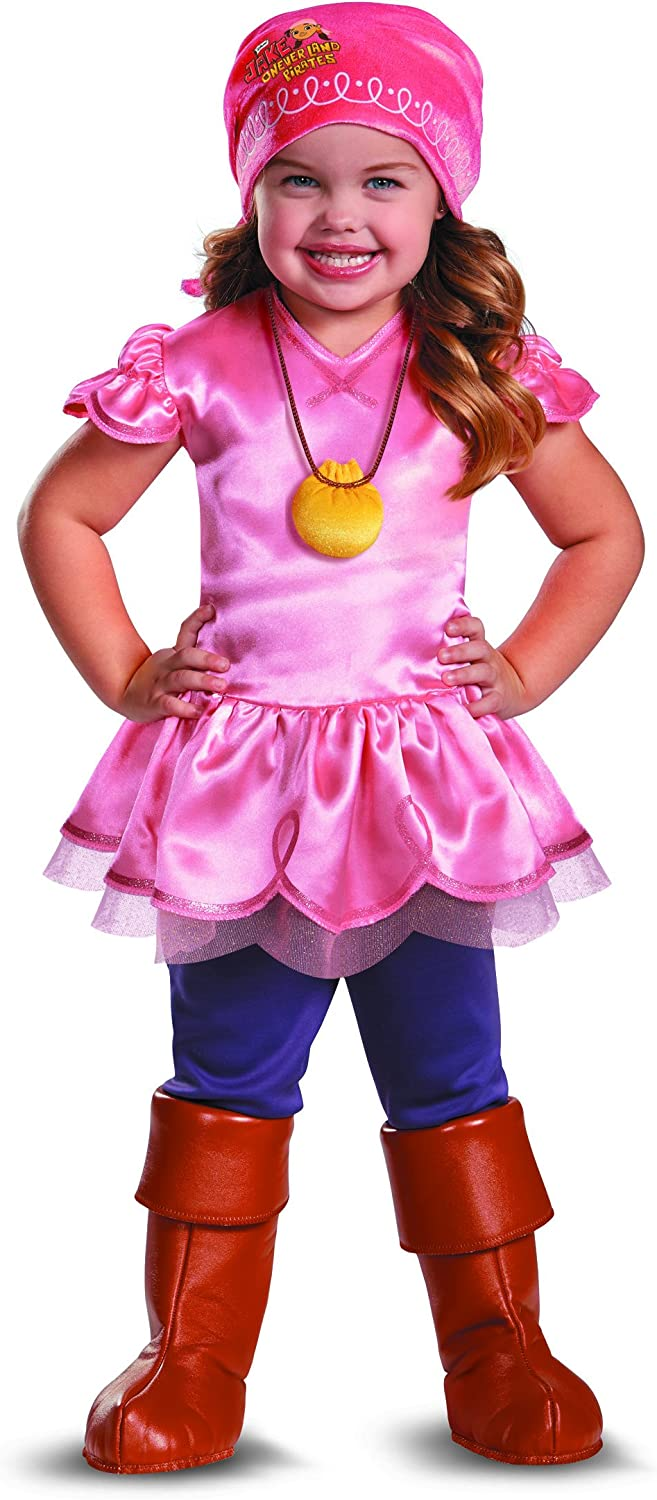 Disguise Girl's Disney Junior Jake and The Neverland Pirates Izzy Deluxe Costume, 2T
