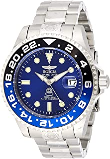 Invicta Men's Pro Diver Automatic-self-Wind Diving Watch with Stainless-Steel Strap, Silver, 20 (Model: 21865)