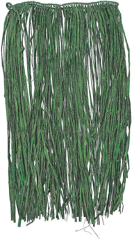 Fun Express Green Raffia Adult Pieces Ranking TOP9 3 Max 50% OFF Skirt - Hula