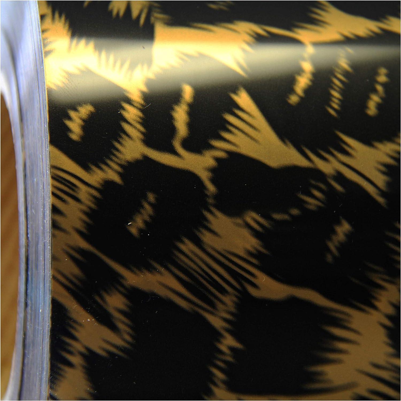 Threadart OFFicial shop Ranking TOP8 Metallic Foil Leopard Heat O Iron Vinyl Film Transfer