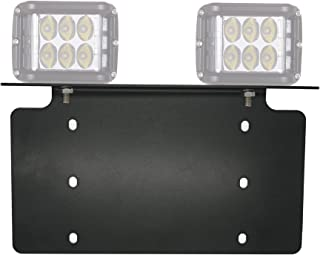 War-Horse License Plate Mounting Bracket For LED Work Light Bar and Work Lamps,Fits most license plates(black,Heavy steel plate)