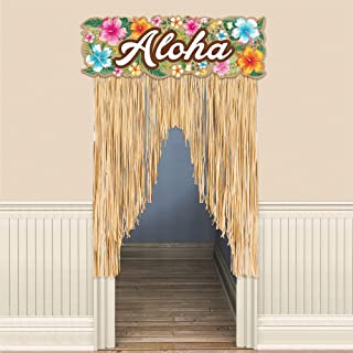 Amscan Beachy Blooms Party Door Curtain, 54