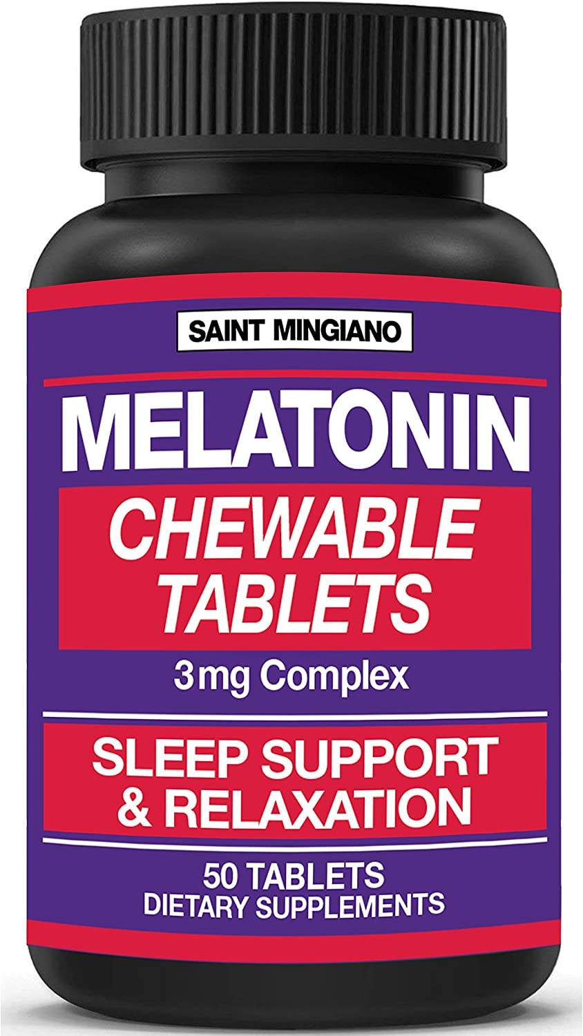 Melatonin Max 61% OFF - 50 Chewable Tablets 3mg NEW before selling Fast Asleep Fall You Helps