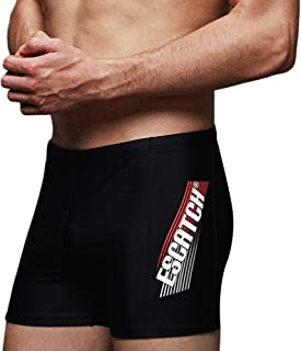 Arcweg Men's Swimming Trunks Briefs Quick Dry Sport Boxer Swimwear Underwear Drawstring Summer Beach Board Shorts Elastic ...