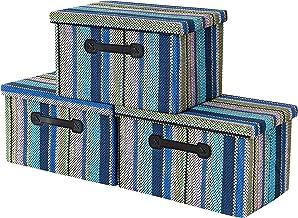 Storage Bins [3-Pack] Decorative Storage Boxes for Storage, Fabric Storage