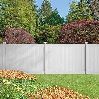 Dover 6 ft. H x 8 ft. W Vinyl Privacy Fence Panel Kit