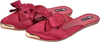 saanvishubh Latest Faux Leather Casual Flat Slip-on for Girls and Women