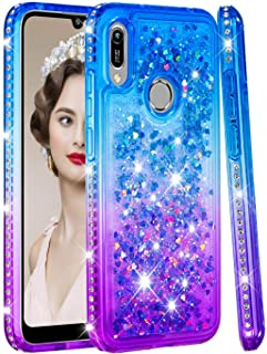 StarCity Honor 8A Case, Huawei Y6 2019 Case, Glitter Sparkly Bling Diamond [Gradient Quicksand] Soft Flexible TPU Case for Honor 8A / Huawei Y6 Pro 2019 Multi-Colored
