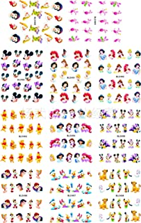 12 sets Disney cartoon MICKEY MOUSE minnie mouse NAIL DECALS little mermaid ariel NAIL ART water transfer alladin SNOW WHITE Marge Simpson nail stickers accessories nail vinyls French tip stickers