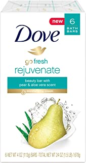 Dove Go Fresh Beauty Bar, Pear and Aloe Vera, 6 Count