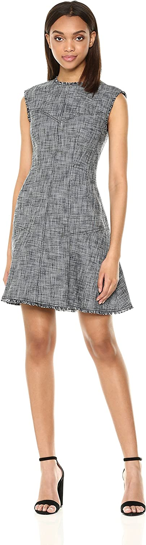 Rebecca Taylor Womens Sleeveless Slub Suiting Dress Dress