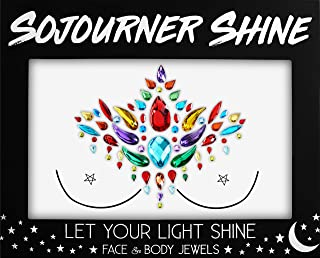 Face Jewels Glitter Gems Rhinestones – Eye Body Jewels Gems | Rhinestone Stickers | Body Glitter Festival Rave & Party Accessories by SoJourner (Party Pack)
