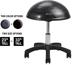Gaiam Balance Ball Chair Stool, Half-Dome Stability Ball Adjustable Tall Office